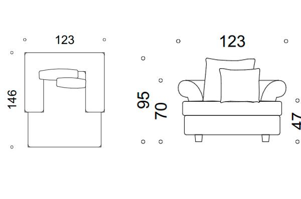 Fotel modena I 2