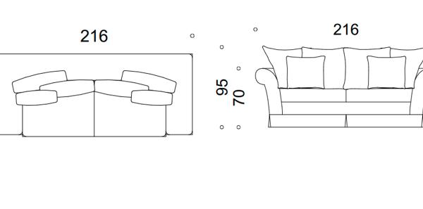 modena II sofa 2-ososbowa z falbanką 1